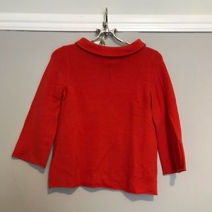 J Crew Cashmere sweater with 3/4 length sleeves